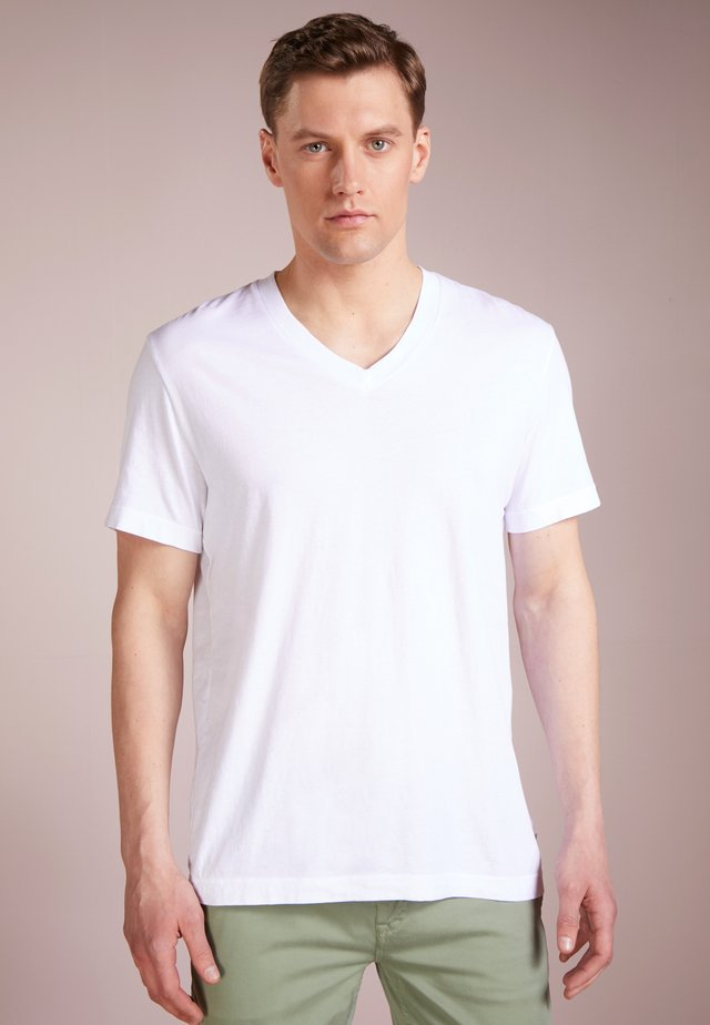 V-NECK TEE - T-shirt basic - white