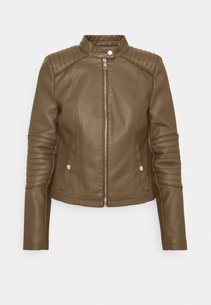 VMLOVECINDY COATED JACKET - Faux leather jacket - bungee