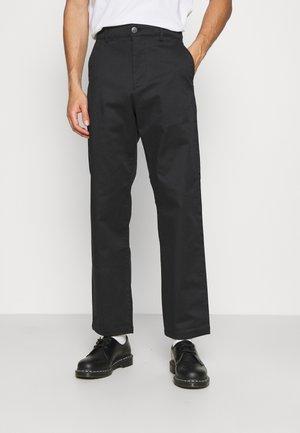 SLHLOOSE FLEX PANTS  - Chino - black
