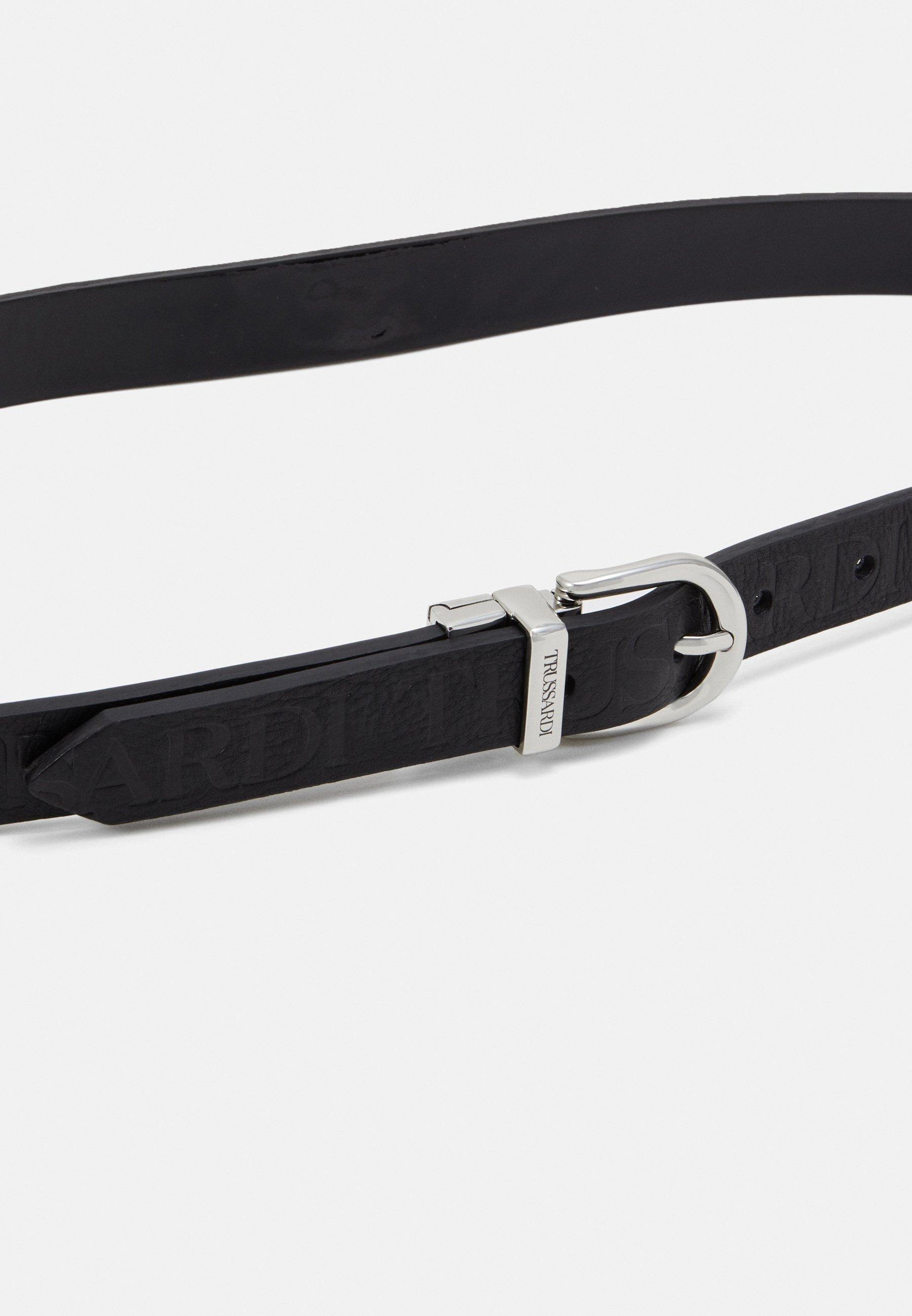Trussardi LOGO REGULAR BELT PATENT - Belte - black/svart J1YaPngqtJBieF6