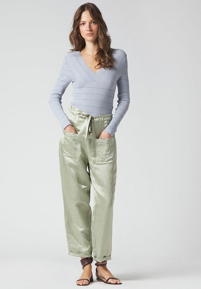 Trousers - salvia