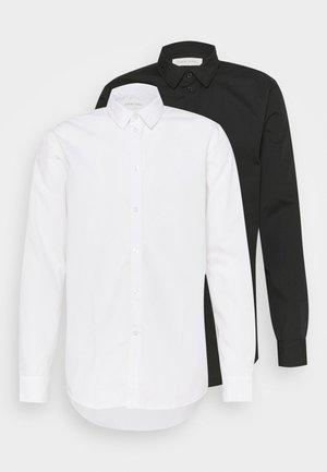 2 PACK - Formální košile - white/black