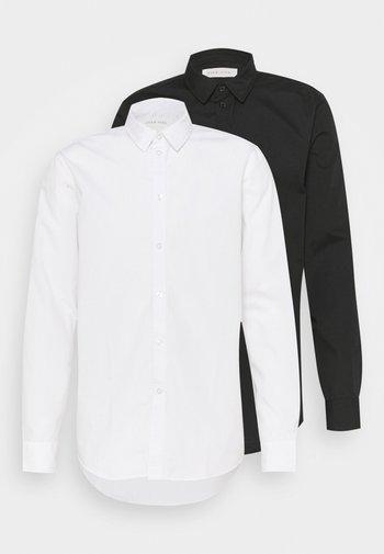 2 PACK - Camicia elegante - white/black
