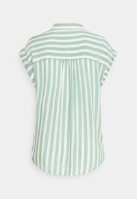 TOM TAILOR - Button-down blouse - green/off-white - 1