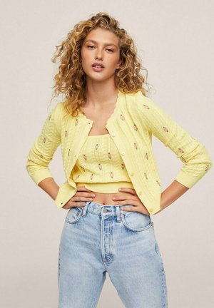 PRADERA - Cardigan - amarillo pastel