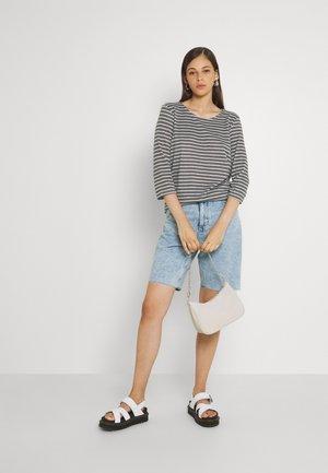 JDYELIN TREATS - T-shirt à manches longues - dark grey melange/light grey melange