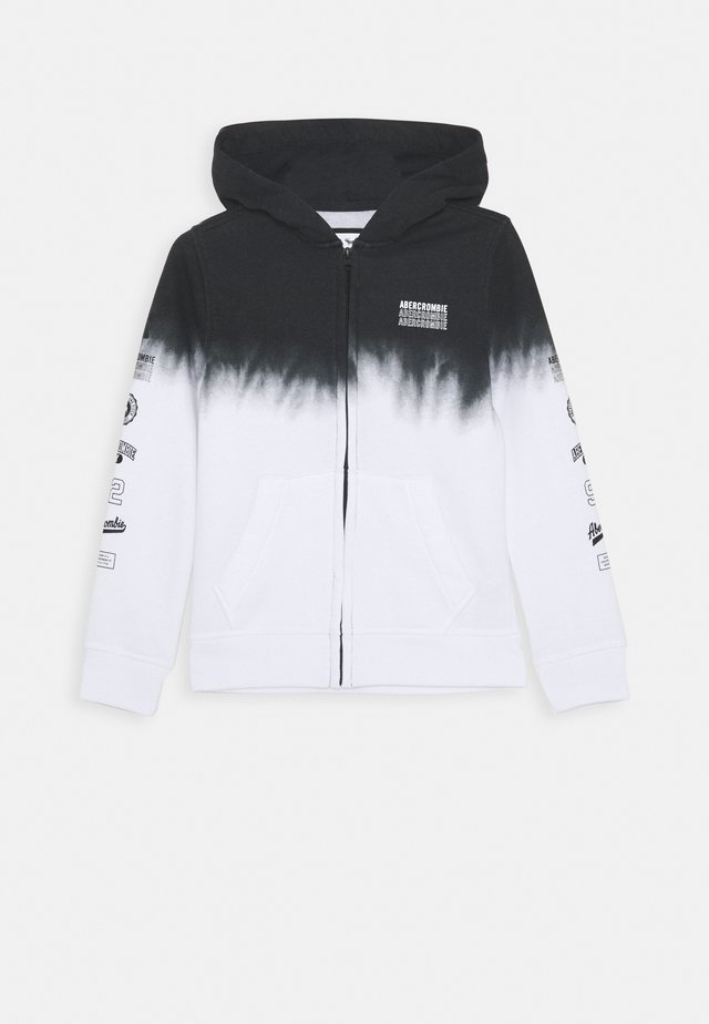 LOGO - Zip-up hoodie - black/white