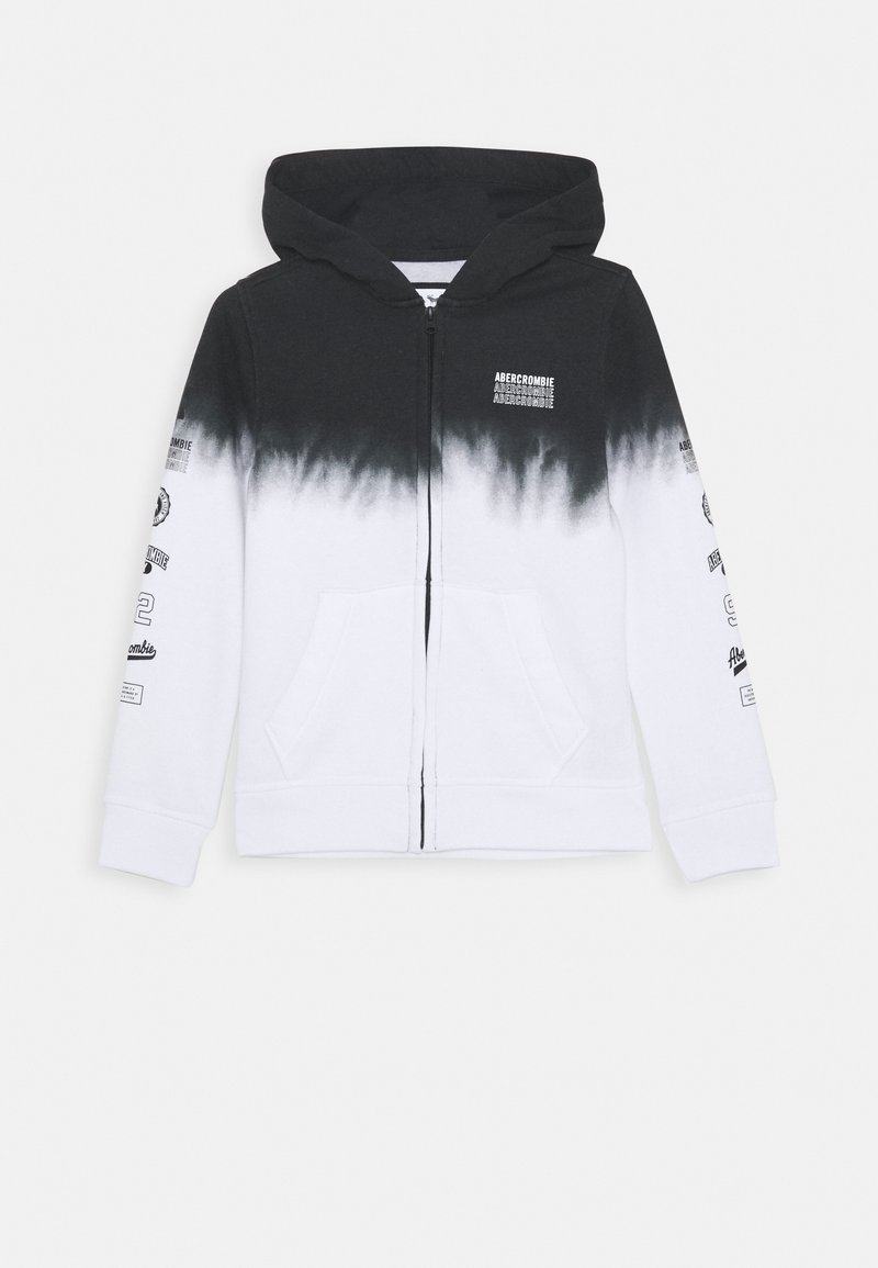 Abercrombie & Fitch - LOGO - Zip-up hoodie - black/white
