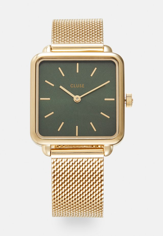LA TÉTRAGONE - Horloge - gold-coloured/forest green