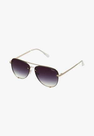 HIGH KEY MINI RIMLESS - Sonnenbrille - gold-coloured/black