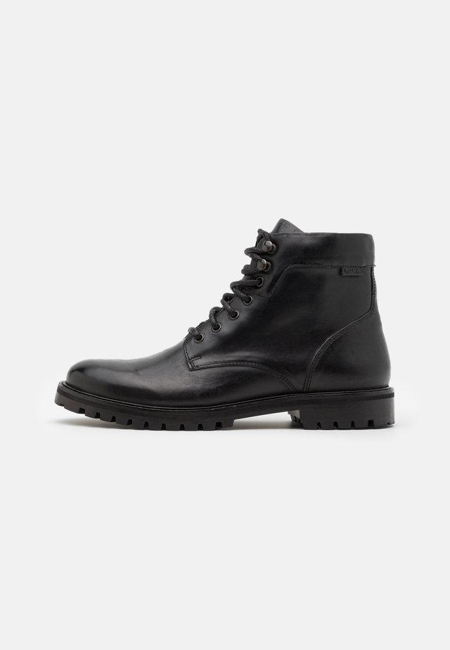 ROBERTS - Lace-up ankle boots - regular black