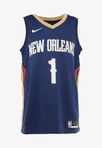 Nike Performance - NBA ZION WILLIAMSON NEW ORLEANS PELICANS SWINGMAN - Print T-shirt - college navy - 4