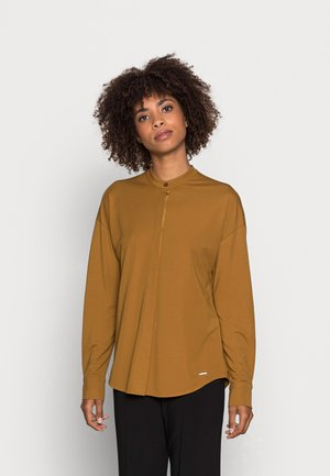 Button-down blouse - green clay