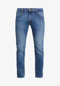 Lee - DAREN ZIP FLY - Jeansy Straight Leg - blue used - 4