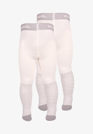 BABYTIGHT WELCOME BABY 2 PACK - Tights - silber