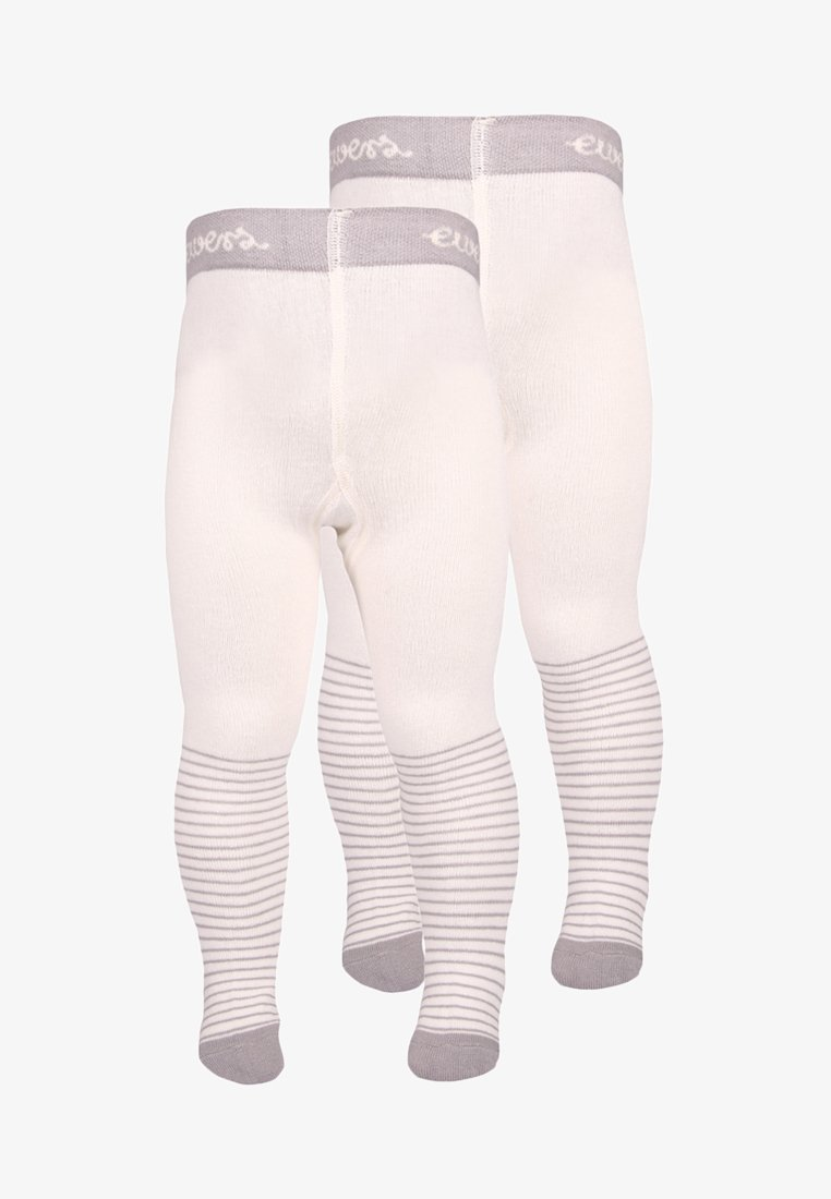 Ewers - BABYTIGHT WELCOME BABY 2 PACK - Tights - silber