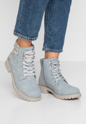 Ankle boots - light blue