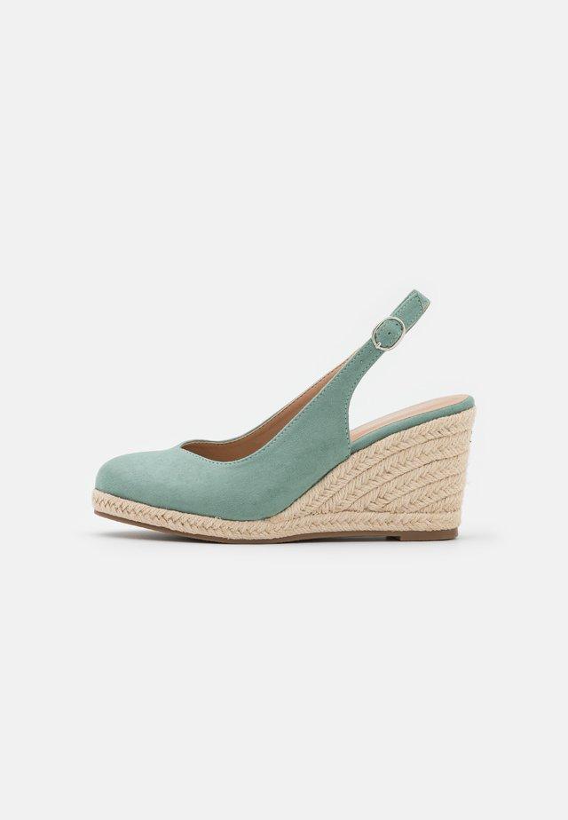 Sandały na platformie - mint