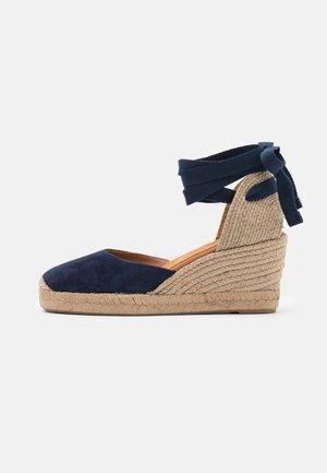 CANDIDA - Sandały na platformie - ocean