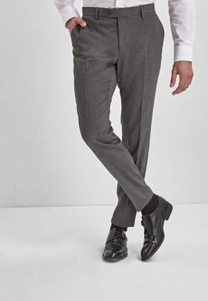 BLUE SKINNY FIT STRETCH MARL SUIT TROUSERS - Pantaloni eleganti - grey
