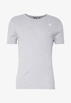 BASE R T S/S - T-shirts basic - grey/white