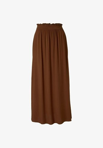 Maxi skirt - amber brown