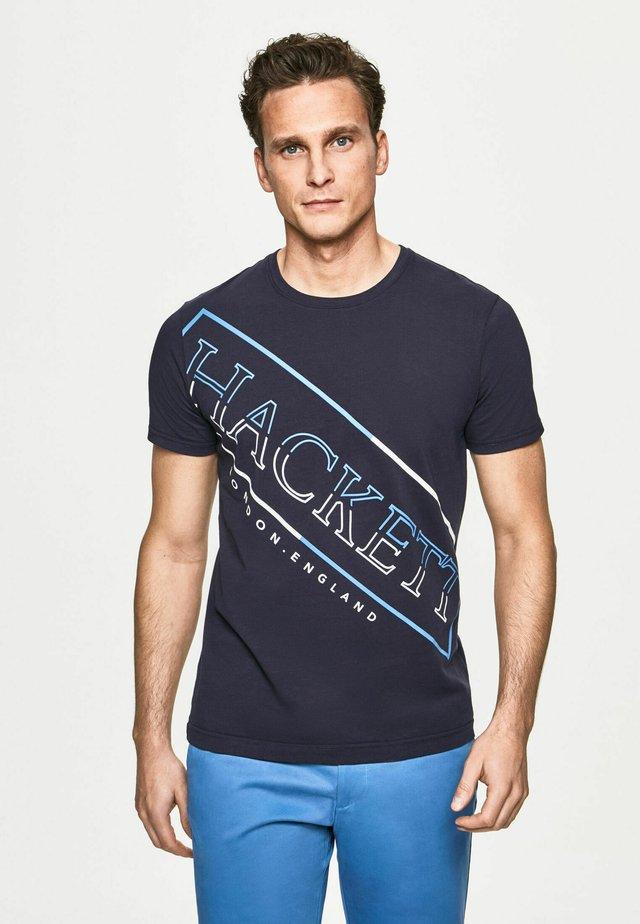 Camiseta estampada - dk navy