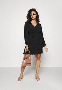 Forever New Curve - COLETTE SKATER WRAP DRESS - Day dress - black - 1