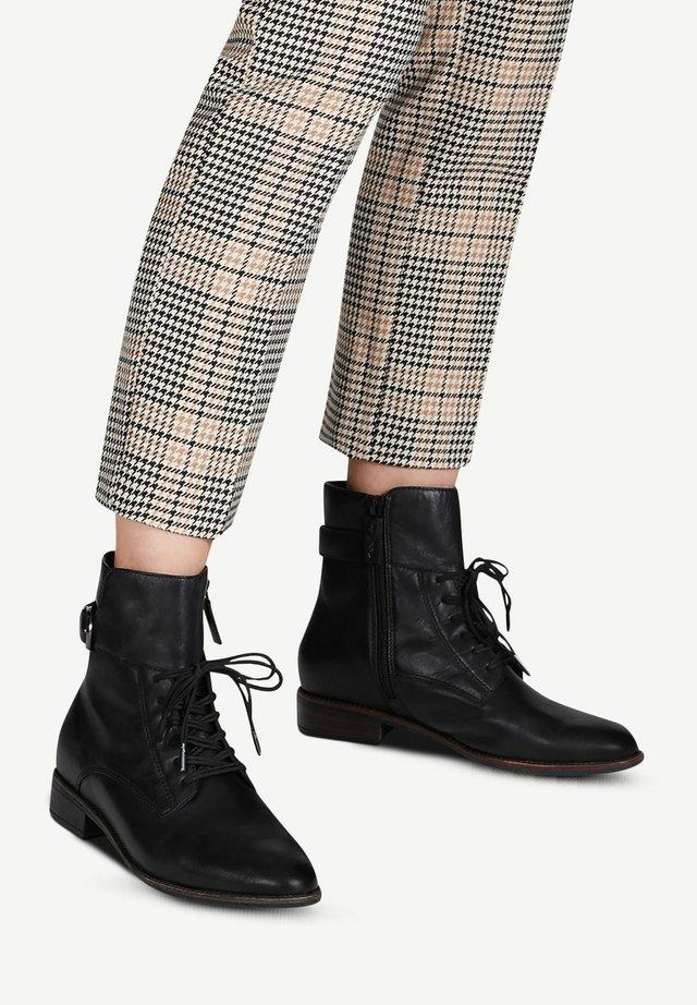 Bottines à lacets - black leather