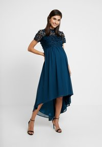Chi Chi London Maternity - VERONICA DRESS - Vestido de fiesta - teal - 2