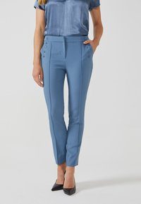 Aaiko - SOLLO VIS 345 - Trousers - steel blue a - 0