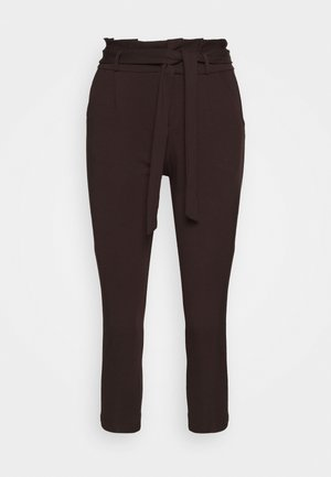 VMEVA LOOSE PAPERBAG PANT - Trousers - chocolate plum