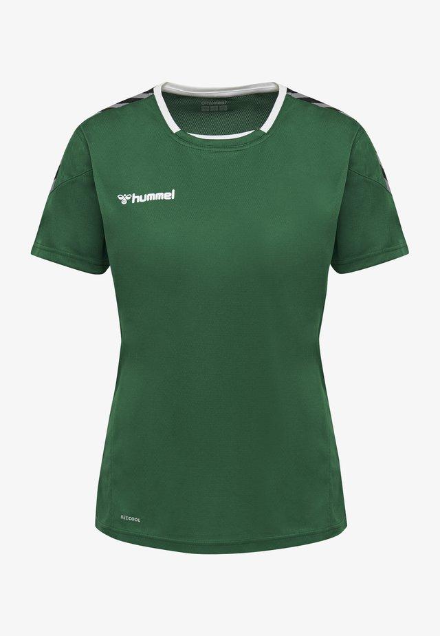 HMLAUTHENTIC  - T-shirt print - evergreen