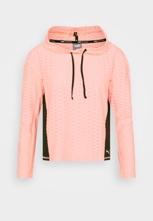 TRAIN FLAWLESS HOODIE - Jersey con capucha - elektro peach
