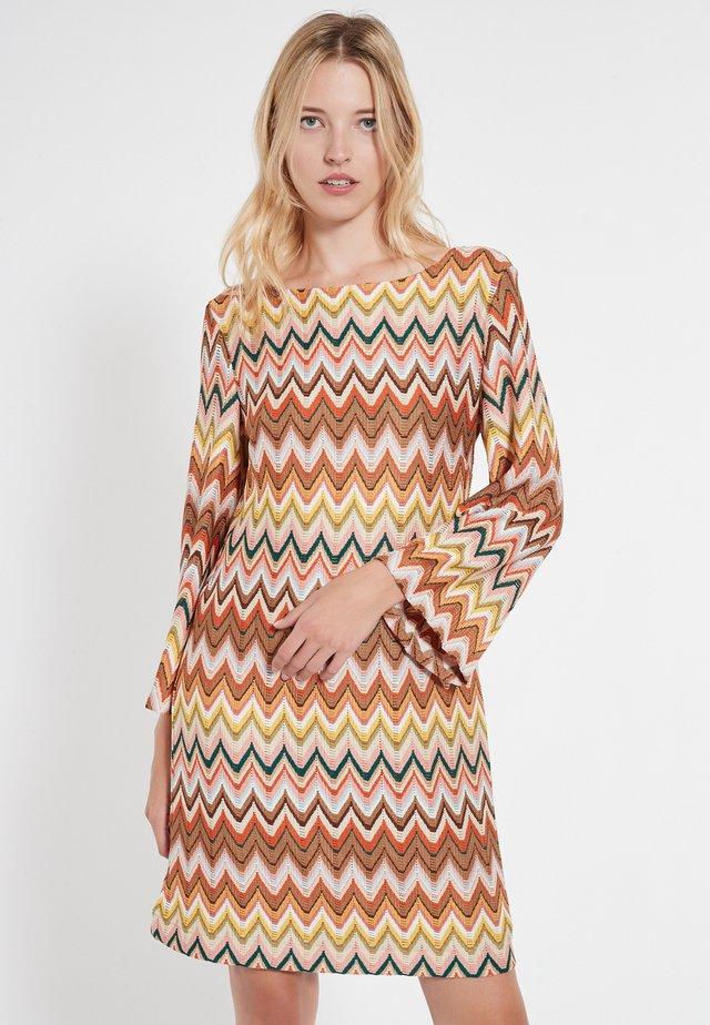 Gebreide jurk - bunt