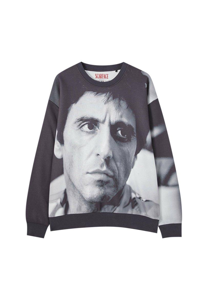 PULL&BEAR - Sweatshirt - mottled black