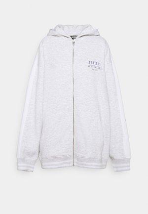 PLAYBOY SPORTS ZIP THROUGH - Zip-up sweatshirt - grey