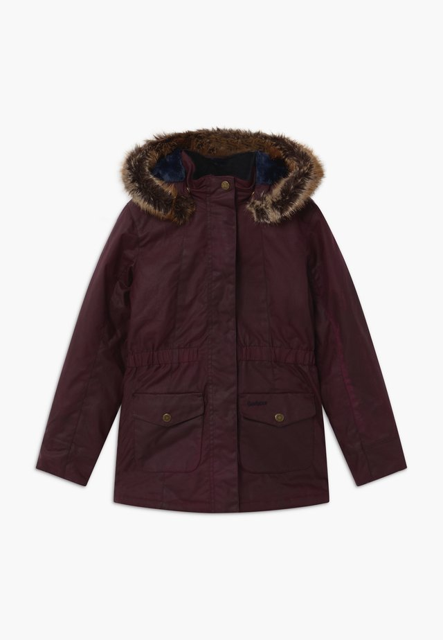 GIRLS TERN WAX - Winter coat - merlot