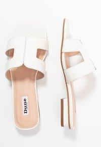Dune London - LOUPE - Pantolette flach - white - 3