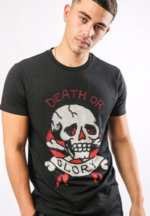 DEATH-STUD T-SHIRT - Print T-shirt - black