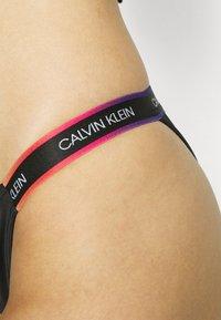 Calvin Klein Swimwear - PRIDE CHEEKY - Bikini bottoms - black - 3