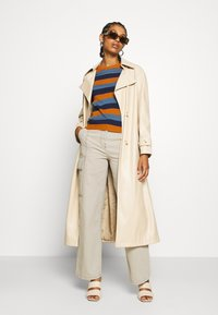 Topshop - STRAIGHT LEG SIDE POCKET TROUSERS - Trousers - stone - 1