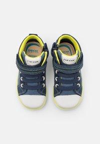 Geox - KILWI BOY - Babyschoenen - navy/fluo yellow - 3