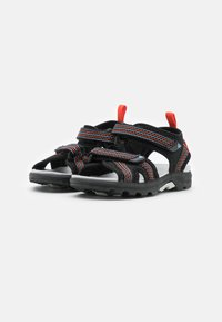 Viking - LOPPA UNISEX - Walking sandals - black/dark grey - 1