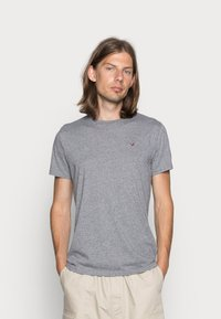 Hollister Co. - CREW CHAIN 3 PACK - Basic T-shirt - black/white/grey - 1