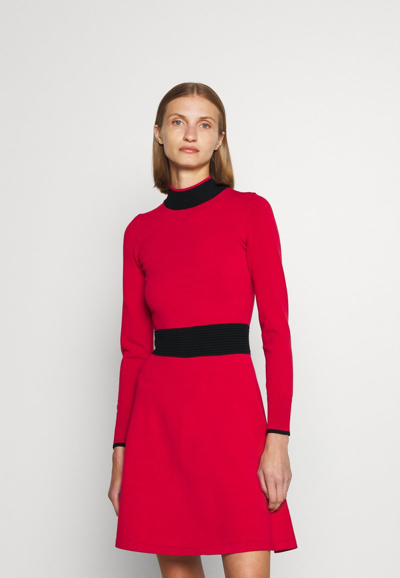 HUGO - SUMERY - Obleka/pulover - dark red