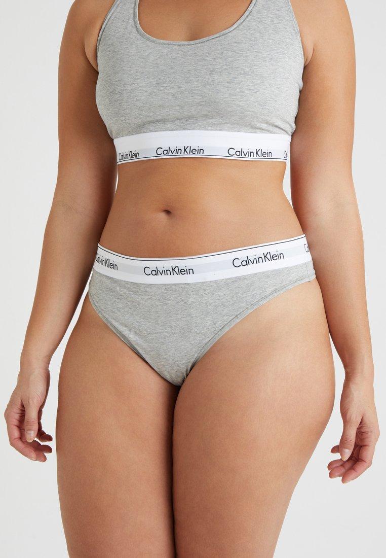 Calvin Klein Underwear - MODERN PLUS THONG - Thong - grey heather