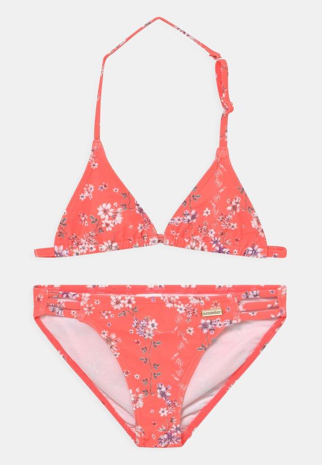 TRIANGLE DITSY SUN SET - Bikini - orange