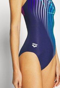 Arena - OPTICAL WAVES SWIM PRO BACK ONE PIECE - Swimsuit - navy/provenza - 3