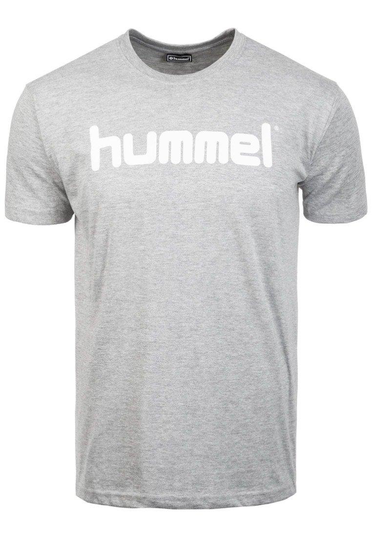 Men HMLGO - Print T-shirt - grey